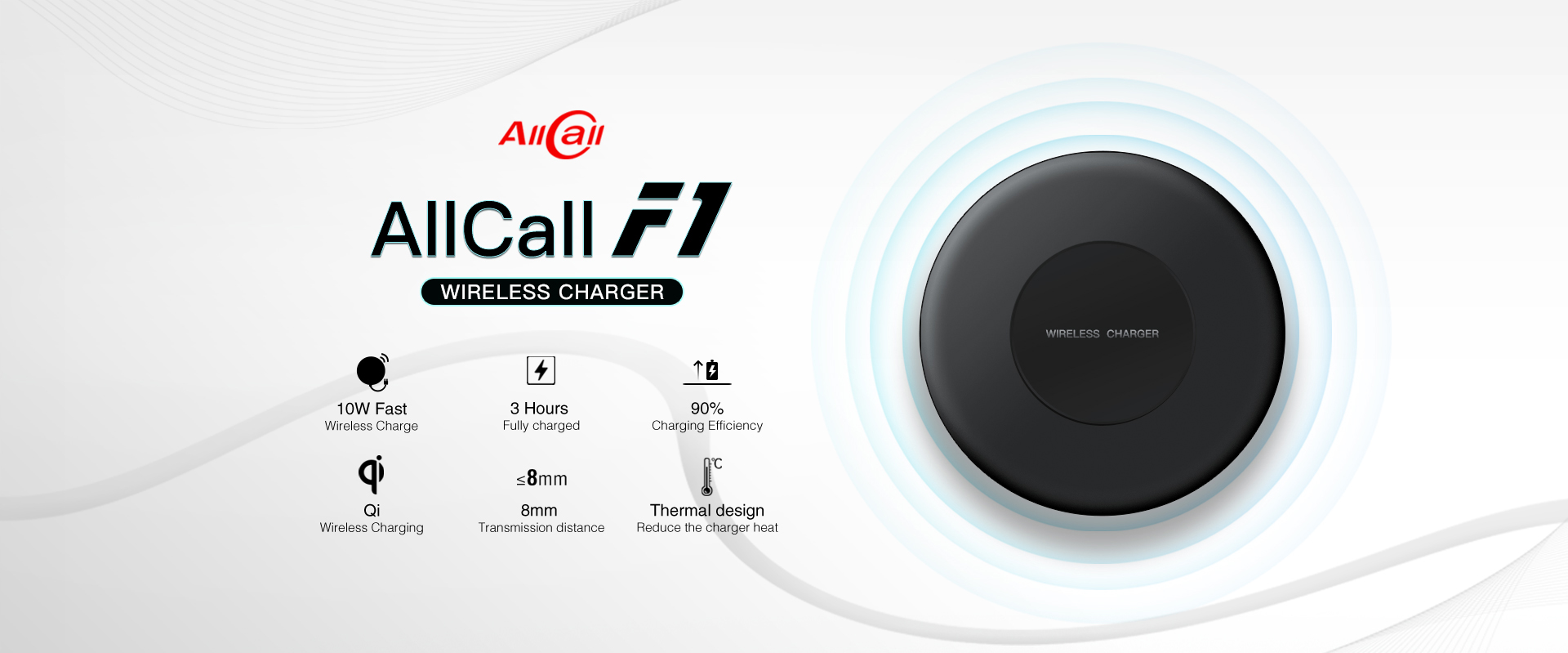 AllCall MIX2 bring 10W big power wireless fast charge- F1