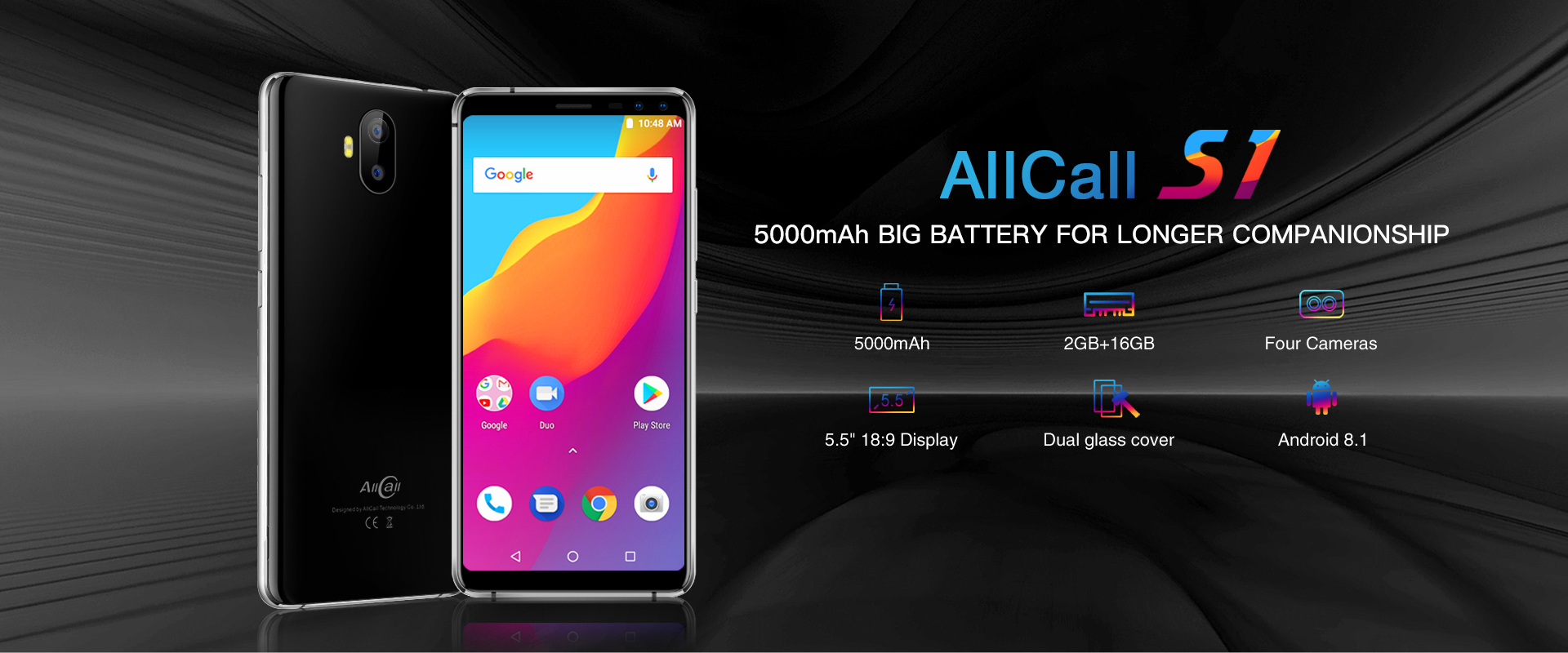AllCall S1 finally confirmed to be a 5000mAh large battery phone with only $69.99