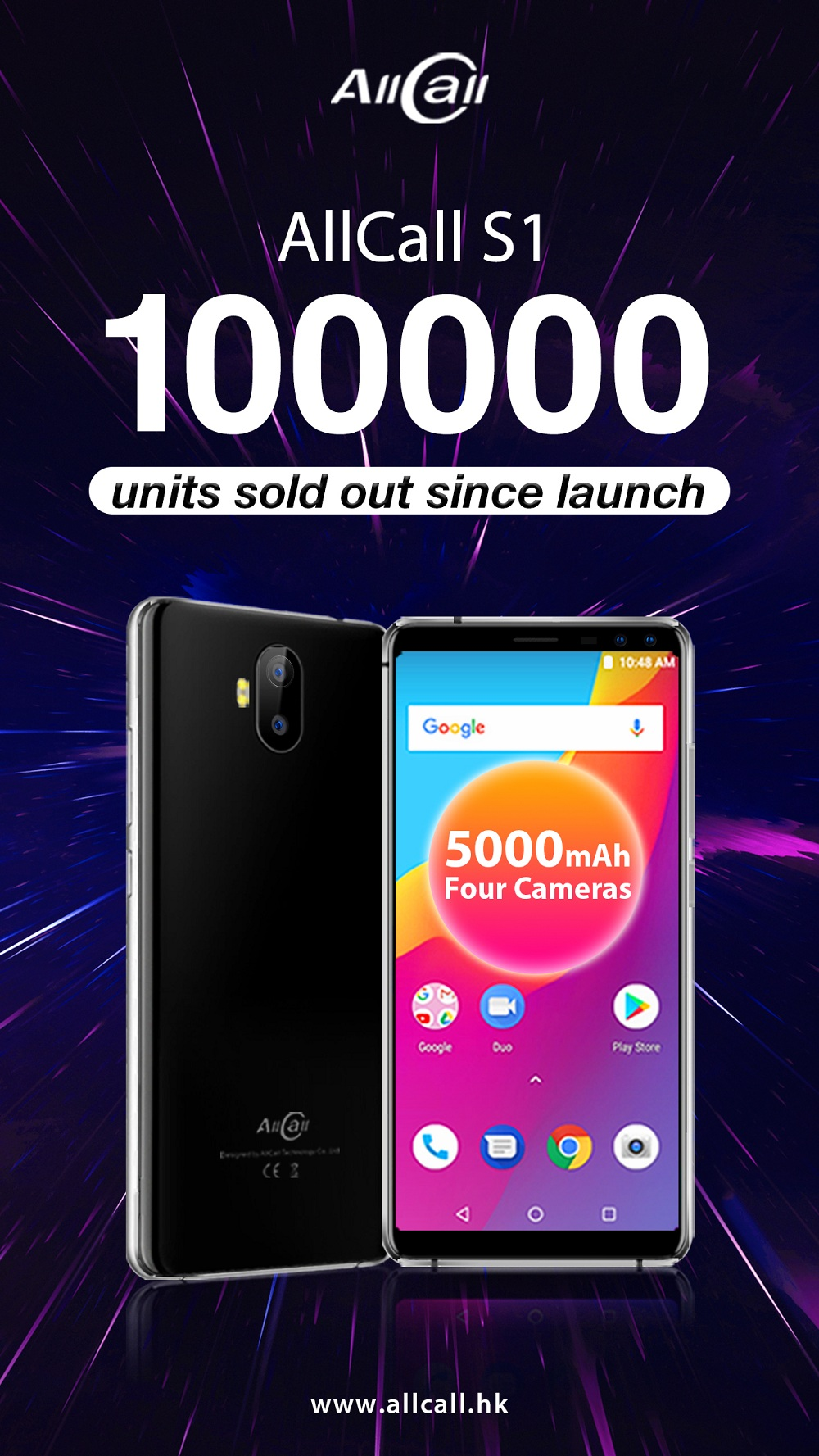 Congratulations! AllCall S1 smartphone has been sold out 100000 units since official launch!