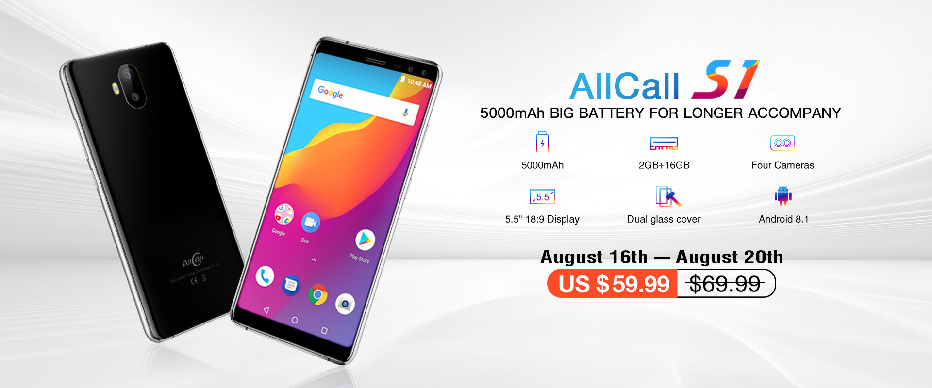 AllCall S1  smartphone at discount