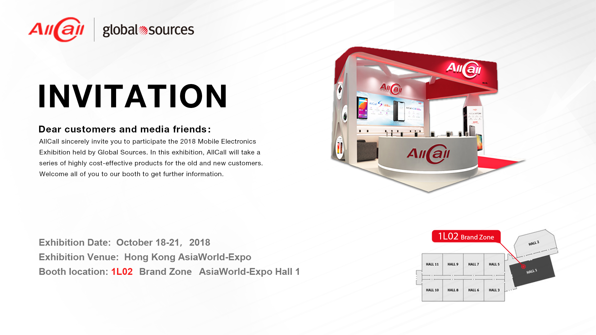 Come to join us in 2018 HK Mobile Electronics Exhibition!!!